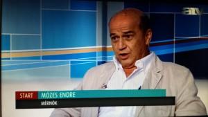 Mózes Endre az ATV képernyőjén